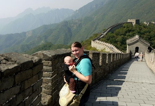Post image for Real Moms and Dads Wear their Babies: to the Great Wall of China
