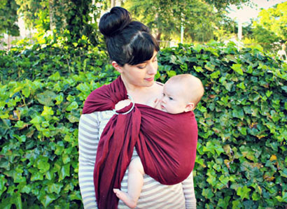 How to wear a ring sling for nursing