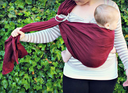 Baby's weight makes sling harder to adjust