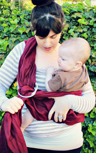 Hard to get baby in a loose ring sling