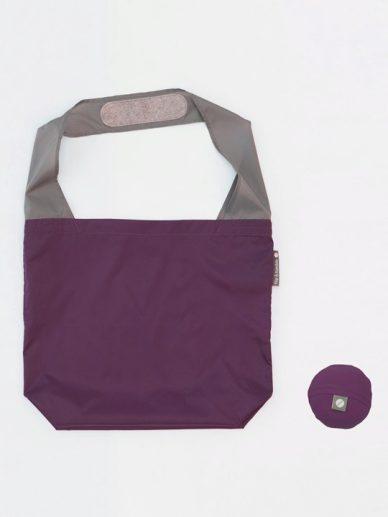Eggplant/Slate: deep purple bag with slate gray strap