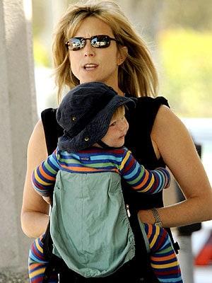Celebrity Babywearing Watch Courtney Thorne Smith Sports