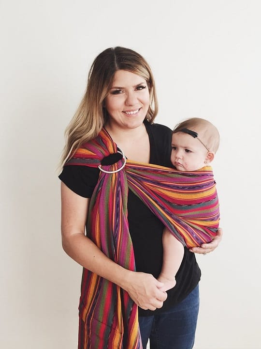 Bright Stripes Maya Wrap Lightly Padded Ring Sling | Maya Ring Slings | Maya Wrap Ring Sling