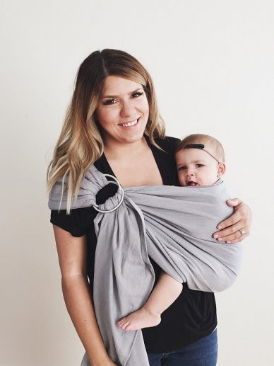 Slate Maya Wrap Lightly Padded Ring Sling | Maya Ring Slings | Maya Wrap Ring Sling