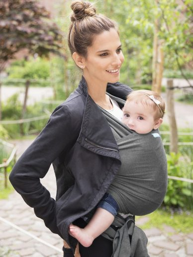 Charcoal Moby Wrap Evolution | Moby Wrap Baby Wrap