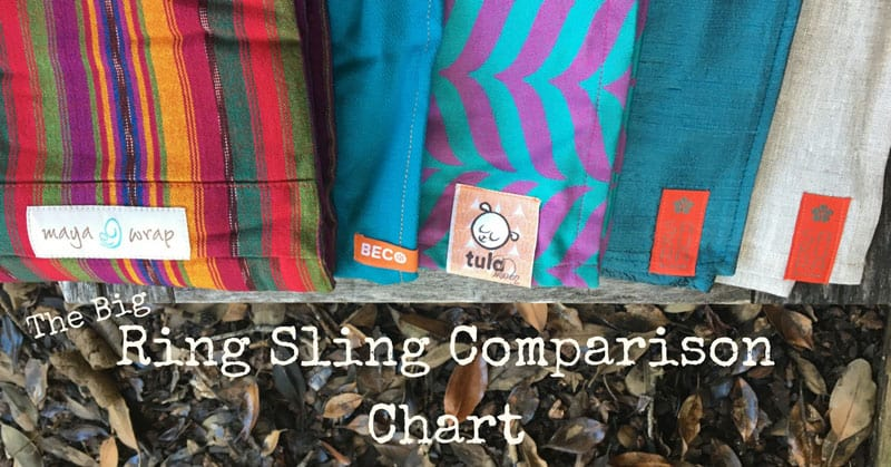 Ring Sling Comparison Chart Maya Wrap Vs Sakura Bloom Carry Me Away