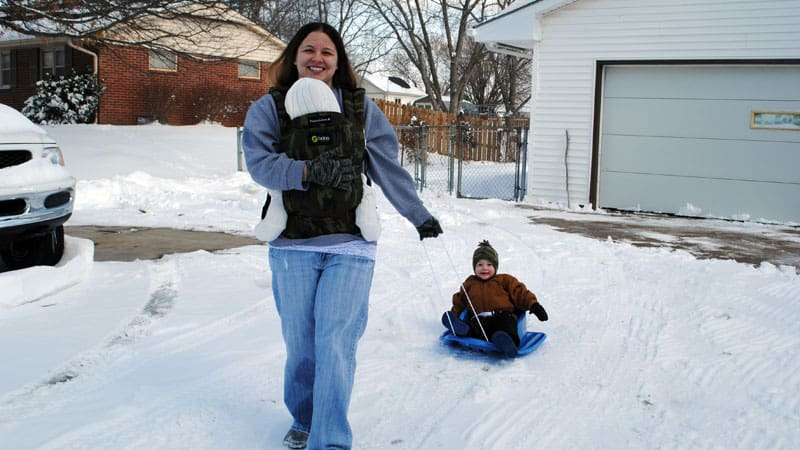 9e5879fca Tips For Wearing Your Baby In Cold Weather And Winter - Carry Me Away