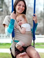 Babylegs great for babywearing!