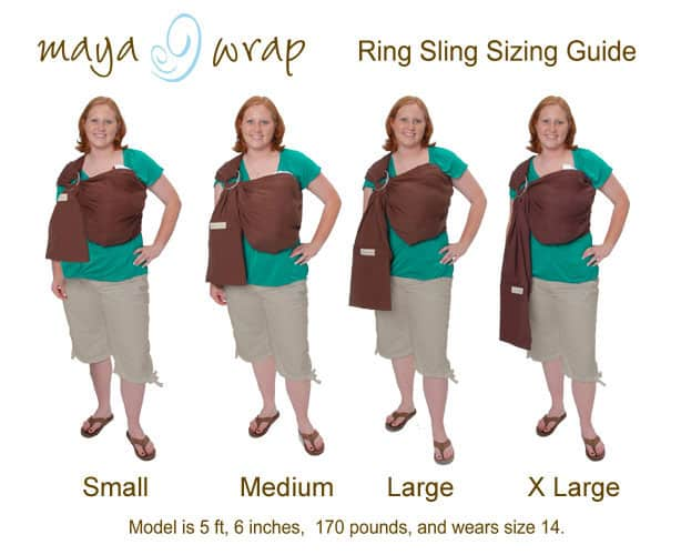 Maya Wrap Ring Slings Size Chart