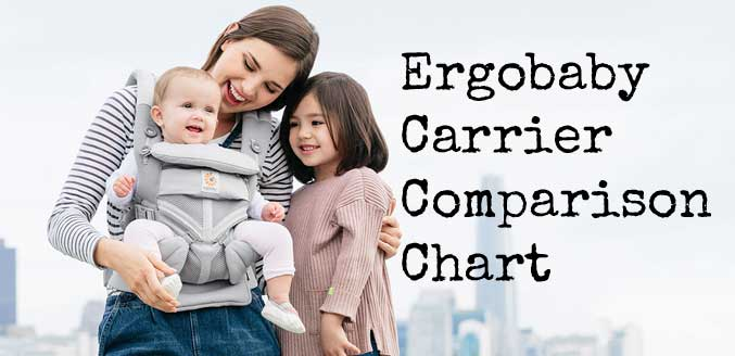 Ergobaby Carrier Comparison Chart