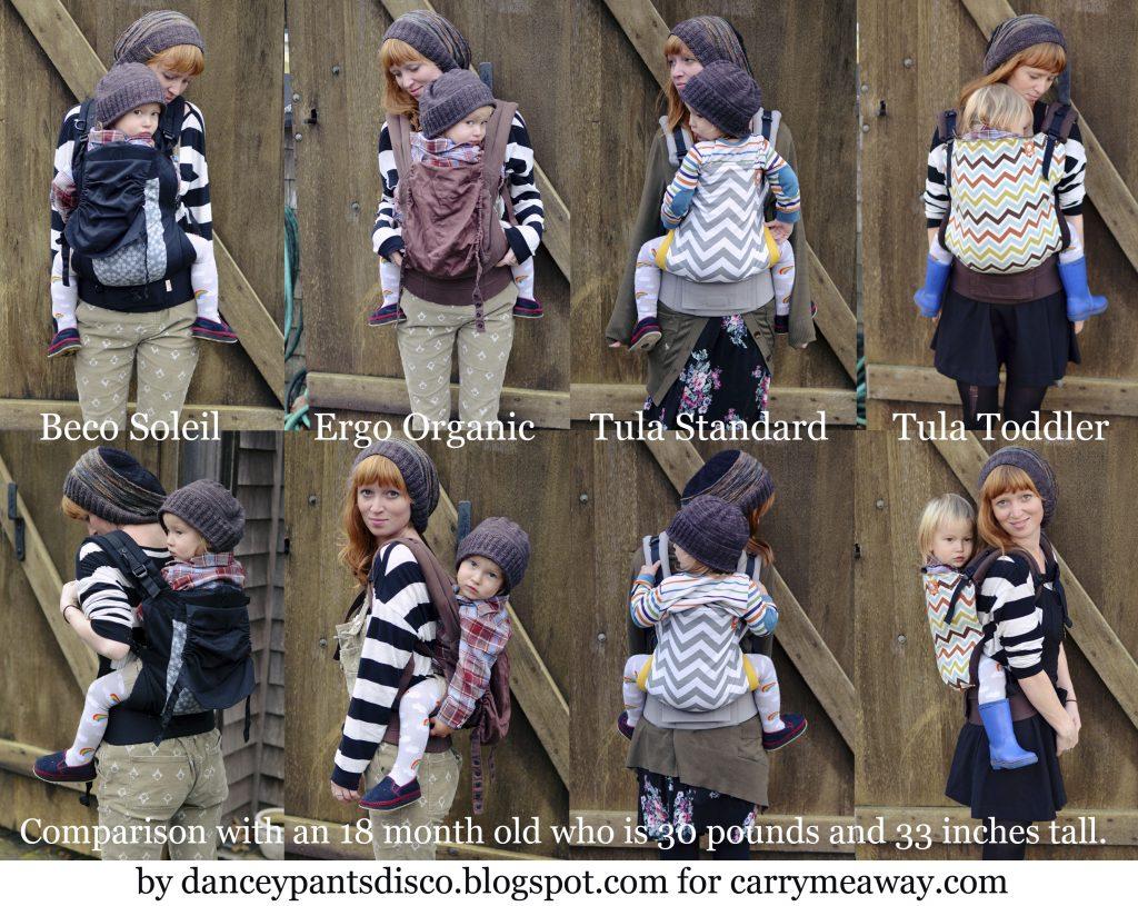 Toddler Carrier Visual Comparison: Ergo vs. Beco vs Tula