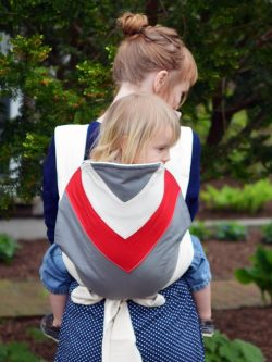 Bowling Red Chevron Kozy Carrier Mei Tai