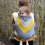 Bowling Yellow Chevron Kozy Carrier Mei Tai