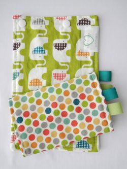 Happy Elephants Organic Green Suck Pads|Barti Boutique Teething Pads