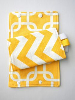 Yellow Zig Zag Suck Pads|Barti Boutique Teething Pads