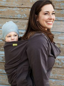 Gray Boba Hoodie|Boba Baby Carrier Hoodie|Cold Weather Babywearing