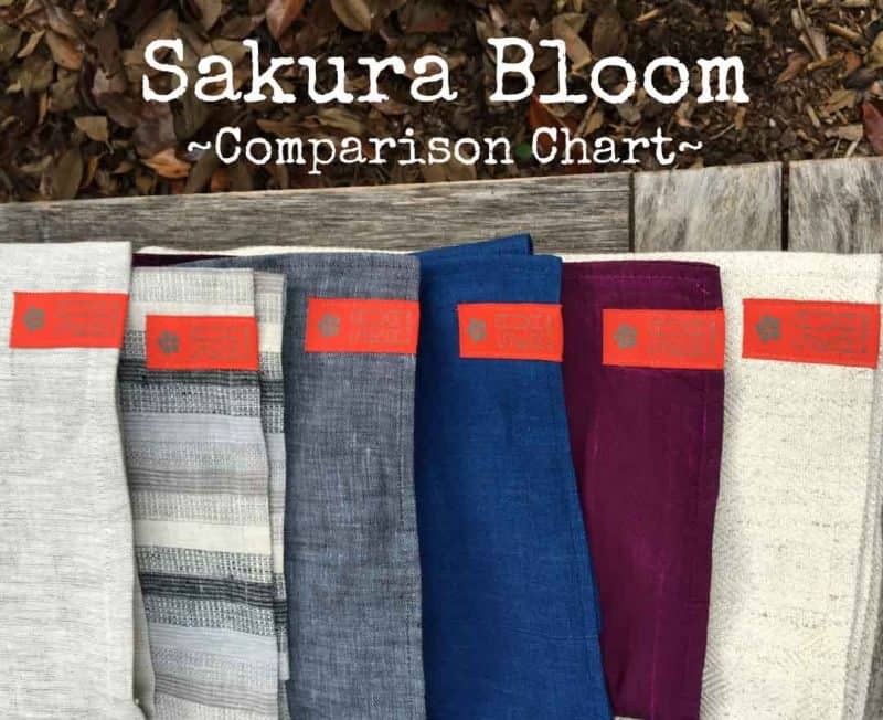 Sakura Bloom Fabric Comparison Chart | Sakura Bloom Ring Slings