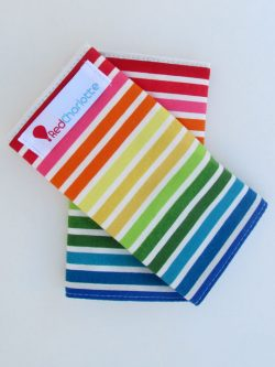 Bright Stripes Red Charlotte suck pads
