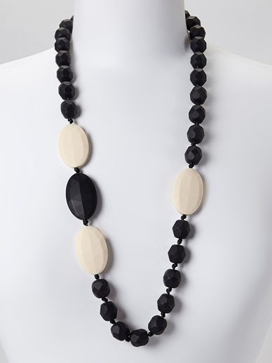 Black Linen Quatro | Gumeez Teething Necklace |Teething Jewelry
