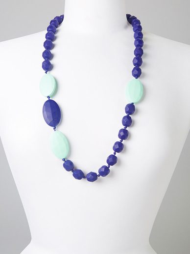 Navy- Mint Quatro | Gumeez Teething Necklace |Teething Jewelry