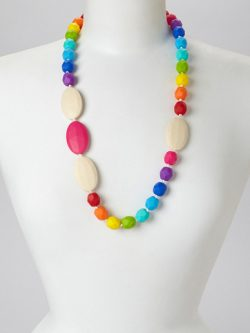 Rainbow Quatro | Gumeez Teething Necklace |Teething Jewelry