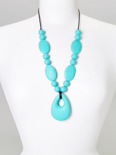 Turquoise Zoe Teething Necklace | Gumeez Teething Jewelry | Teething Necklaces