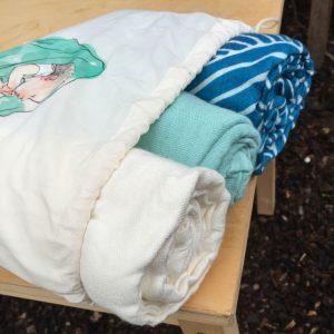 Waves Tula Blanket Set |Tula Blankets