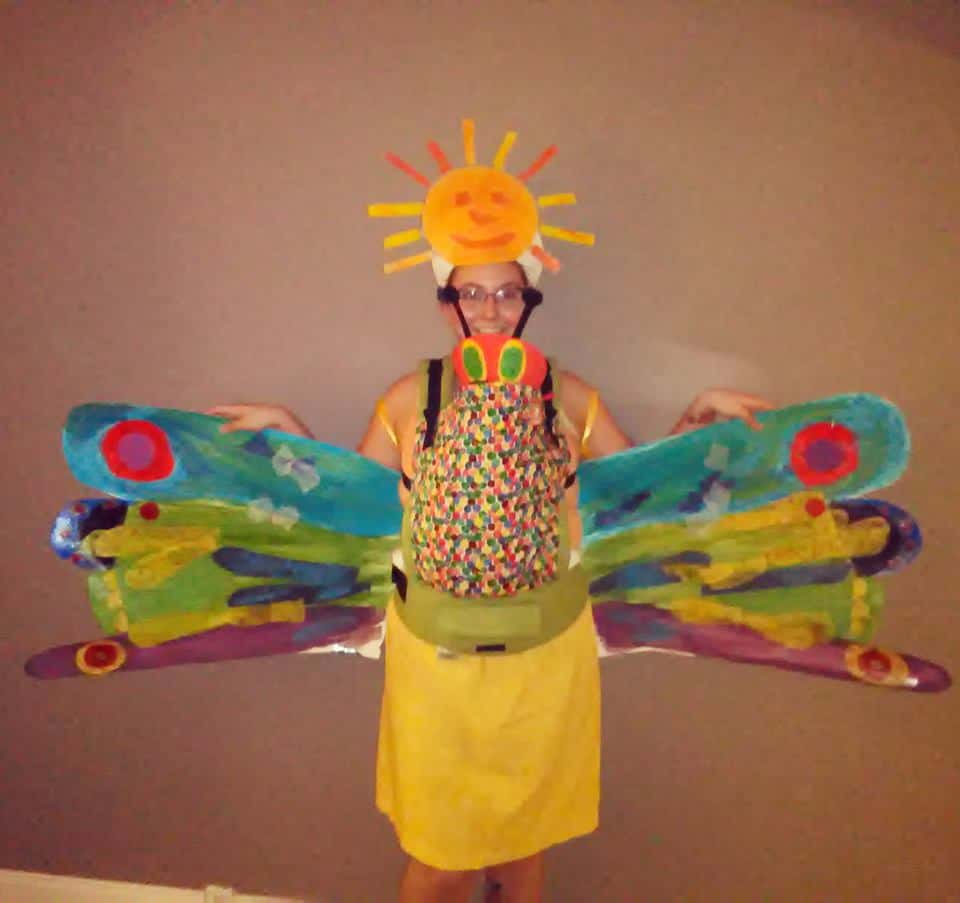 Babywearing Halloween costumes 2016: Eric Carle inspired costume, by Cameron Dennison