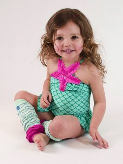 Mermaid Tale UV BabyLegs | Baby Leg and Arm Warmers with UV Protection