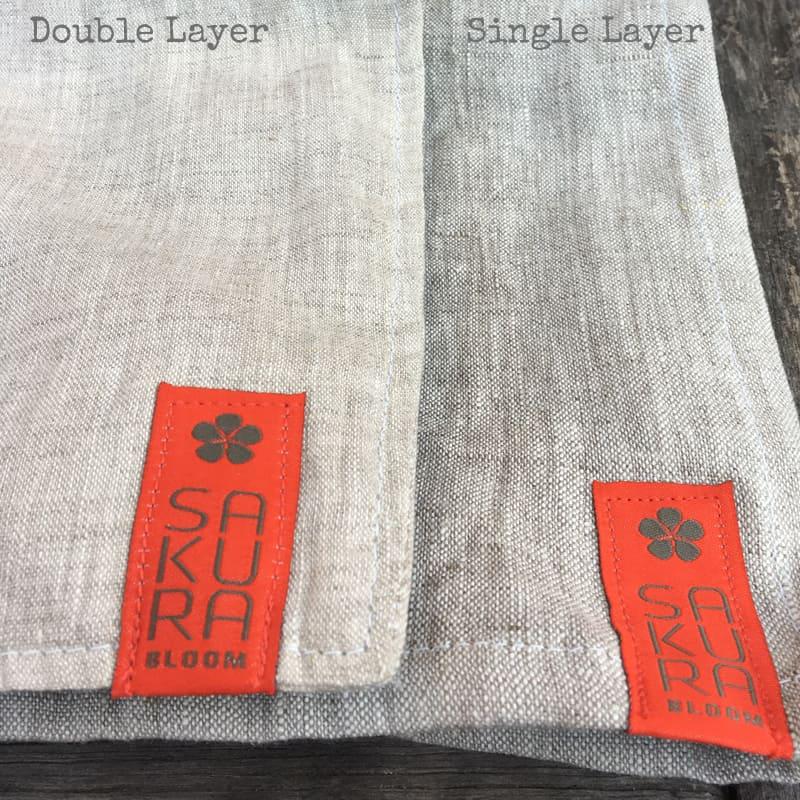 Comparion of Double and Single Layer Sakura Bloom Basics | Basics Sakura Bloom | Sakura Bloom Basics Linen | Sakura Bloom Ring Slings