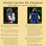 Fit Check: Buckle Carrier Fit Checklist