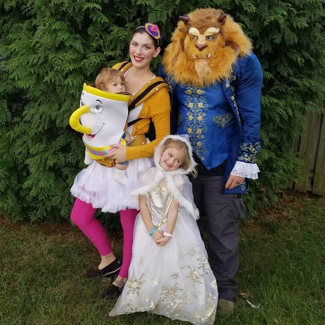 Beauty-and-the-Beast Babywearing Halloween Costume Roundup 2017