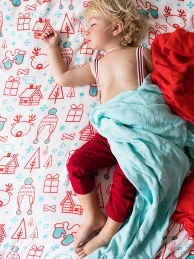 Snow Day Tula Blanket Set | Tula Blankets | bamboo baby blankets