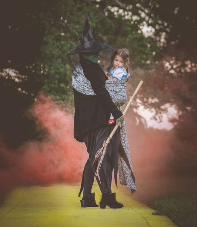 Wicked-Witch-and-Dorothy-Babywearing Halloween Costume Roundup 2017