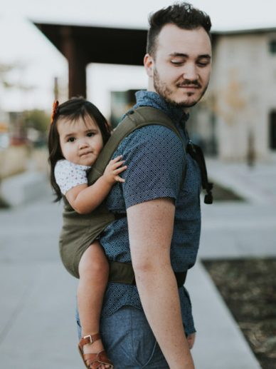 Olive Happy Baby Carrier   Happy Baby Linen Carrier