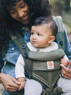 Cool Mesh Khaki Green Ergobaby Omni 360 Baby Carrier | Omni Ergo Carrier | Ergobaby Carriers