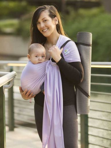 Lavender Mist Beachfront Baby Everyday Ring Sling | Water Ring Slings | Water Baby Carrier | Water Sling