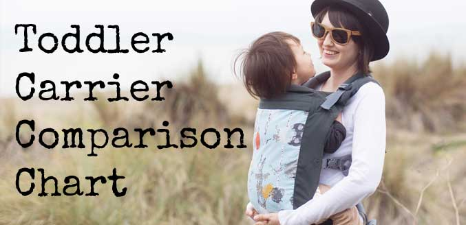 Toddler Carrier Comparison chart - Beco vs. Lillebaby Carry On vs Tula Toddler