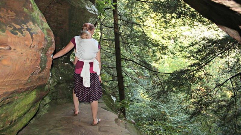 Soft carriers for hiking with your baby